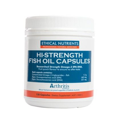 Ethical Nutrients Hi-Strength Fish Oil Capsules (60/120capsules)