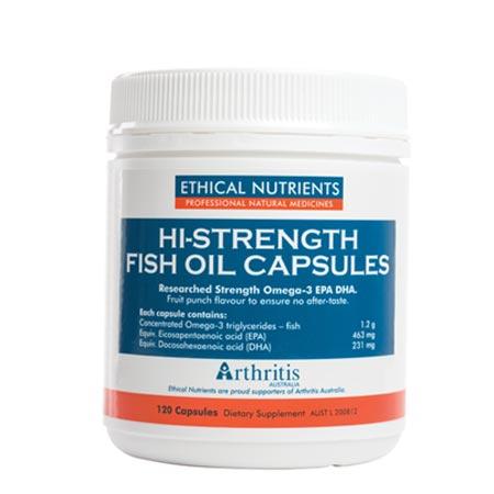 Ethical Nutrients Hi-Strength Fish Oil Capsules (60/120capsules)