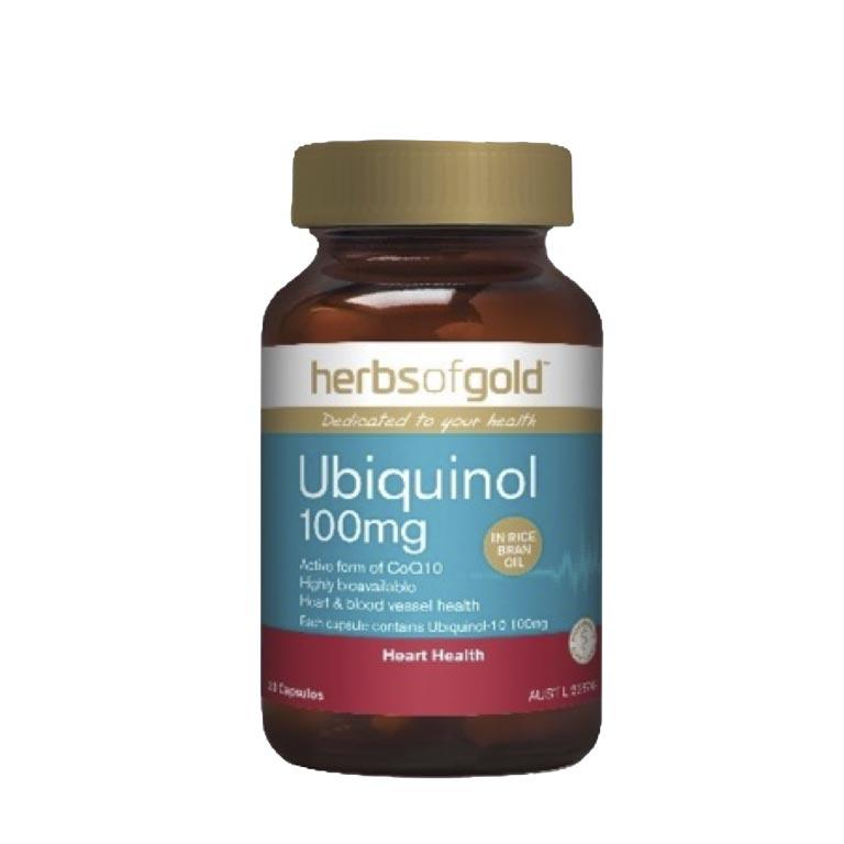 Herbs of Gold Ubiquinol 100mg (60 CAPSULES)